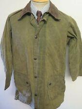 "Vintage Barbour A123 Gamefair Waxed jacket - S 36"" Euro 46 - Sage Green"