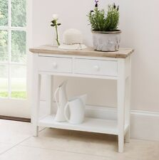 Florence Console Table STUNNING Kitchen Hall Table 2 Drawers and Shelf W 82cm White