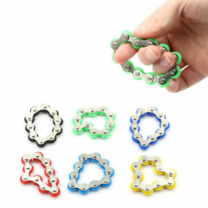 Fidget Roller Bike Chain Fun Finger Toy Stress Anxiety Relief Gadget 8 Links UK