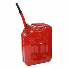 5 Gal 20L Jerry Can Steel Gasoline Gas Fuel Tank Military Emergency Backup Red
