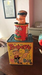 Vintage POPEYE in the MUSIC BOX 1953 by Mattel RARE - Needs To Be Fixed To Work