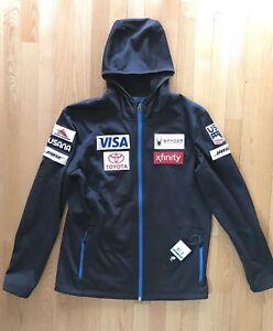 NEW* 2019 US SKI TEAM Issued Spyder Hoody Fleece Jacket Men's L