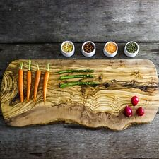 Large Rustic Olive Wood Serving/Carving Board - Length 54 to 60cm (WSCPR60)