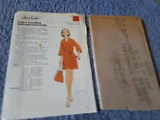 Vintage 1970s Silver Needles sewing pattern No: 33 Lady's towelling robe uncut