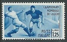 1934 REGNO MONDIALI DI CALCIO 1,25 LIRE MH * - Y022