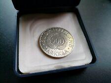 500 Markkaa 1952 SILBER - mit Münzpaß der MDM in vorzüglich !!