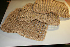 """PARROT Toy PARTS, 3 Pack Natural Seagrass Mat Small 14"""" x 14"""" x 0.75 SG002"""