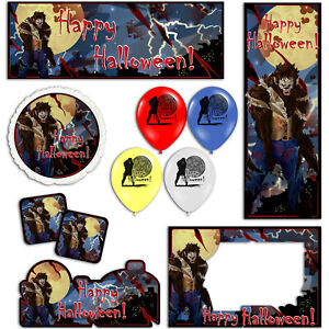 Happy Halloween Wolfman Werewolf Banners Decorations Balloons Party Supplies