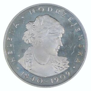 SILVER - WORLD Coin - 1975 Poland 100 Zlotych - World Silver Coin *659