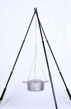 Camping Cooking Titanium Chain + Pothook Hook Cookware Campfire Hanging Pan Pot