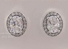 VINTAGE ELEGANCE Authentic PANDORA Silver Earring Studs 296247CZ NEW w POUCH $80