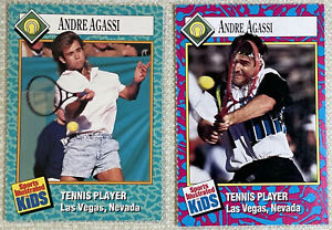 Sports Illustrated SI for Kids ANDRE AGASSI Rookie Card 6/89 #47 RC + 5/93 #148