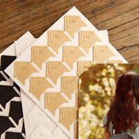 144X Vintage Self-Adhesive Paper Corner Stickers Scrapbooking Album Photo Decor