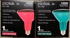 2 Pack BR38 100W Eq. 120V Red & Green LED Light Floodlight Bulb Indoor Outdoor