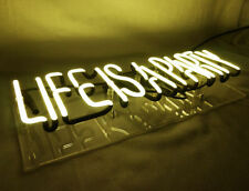 """New 'Life is a Party' Beer Bar Pub Decor Art Real Glass Light Neon Sign 15""""x6"""""""