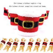 Santa Clothes Napkin Ring Holder Xmas Dinner Table Decoration For Home New Year