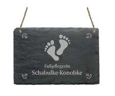 Türschild « PODOLOGIN » Schild + IHR TEXT - Name Fußpflegerin Fußpflege Praxis