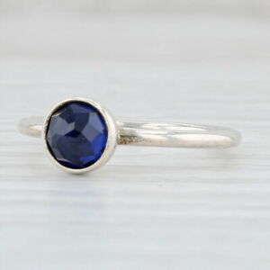 New Authentic Pandora September Droplet Ring - Synthetic Blue Sapphire 191012SSA