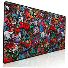 NEW Mouse Pad Gaming Large PC Keyboard Extended Desk Graffiti XXL Size Soft Mat