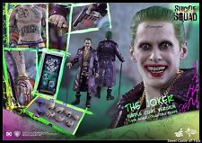 1/6 Hot Toys Suicide Squad Joker Jared Leto Purple Coat Collectible Toys MMS382