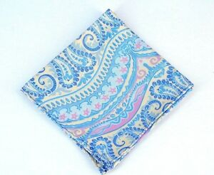 Lord R Colton Masterworks Pocket Square - Galapagos Pearl Blue Silk - $75 New