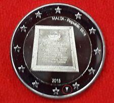 MALTA 2015 2 EUROS REPUBLICA VARIANTE CON MARCA DE CECA