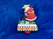 Mary Engelbreit Cast Iron Hoe Hoe Hoe Gardener Christmas Stocking Holder