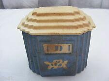 Vintage Harker Pottery USA Grease Jar With Lid Range Jar White Rose carv kraft