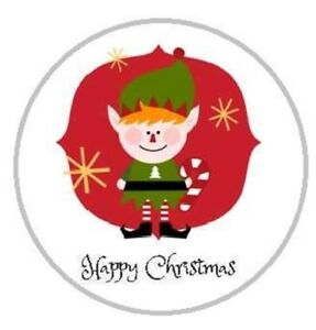 24 Personalised Christmas Stickers Card Decorating, Present Sealing, Sweet Cones