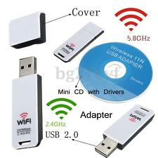 300Mbps 2.4Ghz 5Ghz Wireless USB Adapter Wi-Fi 802.11 a/b/g/n Dual Band Dongle