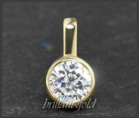 Diamant 585 Gold Anhänger; Brillant mit 0,54 ct; River D; Si1; Damen Schmuck NEU