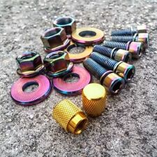 SALT BMX BIKE NUT AND STEM BOLT BICYCLE HARDWARE KIT OIL SLICK JET FUEL