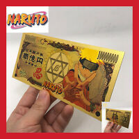 BILLET TICKET FIGURINE NARUTO UZUMAKI MANGA CARTE COLLECTOR GOLD OR JEU BORUTO
