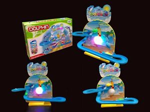 Dolphin Playset Playful Roller Coaster Race Track Set w/ Lights and music toy