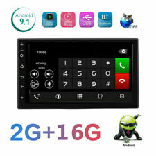Android 9.1 Car Radio Stereo GPS Navigation MP5 Player Double 2Din WIFI 7