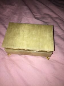Technominoiki  ~ solid genuine Onyx ~ Jewellery Box. handmade in Greece Vintage
