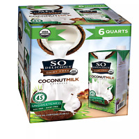So Delicious Dairy Free Organic CoconutMilk Aseptic (32 fl. oz. carton, 6 pk.)