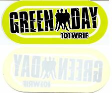 "Green Day - WRIF both bumper & reversed window ""cling"" stickers (2 styles)"