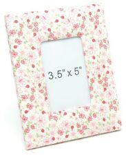 """Red & White Floral design Fabric Photo Frame 5x3.5""""  NEW"""