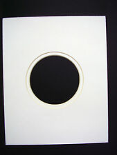 Picture Frame Mat Round Circle White with white 8x10 for 4x6 calligraphy photo