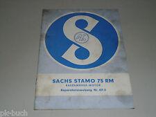 Reparaturanleitung Werkstatthandbuch Sachs Stamo 75 RM, Stand 11/1963
