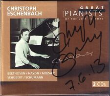 Christoph Eschenbach firmato Great Pianists of the 20th Century 2cd Beethoven