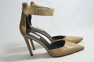 SIREN Size 7.5 Womens Caramel/Tawny Pointy Toe Back Zip Stiletto