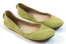 FRENCH SOLE FS NY Soft Green Suede Leather Ballet Flats Shoes Womens 6.5 / 37