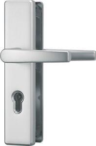 ABUS Türschutzbeschlag KLS114 Drücker/Drücker F1 f. Wohnungeingangstüren 72mm