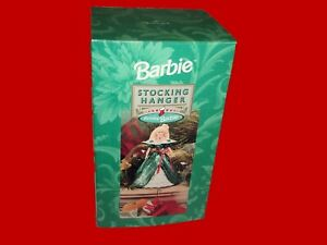 Hallmark Holiday Barbie Doll Christmas Stocking Hanger 1996 (XSH3101) BOXED NEW!