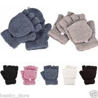 Womens Girls Gloves Hand Wrist Warmer Winter Fingerless Working Gloves Mittens P