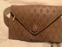 NWT Vince Camuto Brown Envelop Waist Bag Belt Fanny pack Brown M MSRP $58
