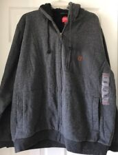 Coleman Men's Sherpa Lined Hoodie Charcoal Heather $100 XXL 2XL