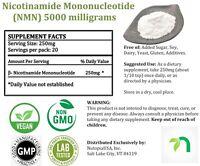 10000mg 99.5% NMN (β-NICOTINAMIDE MONONUCLEOTIDE) Powder, NAD+.